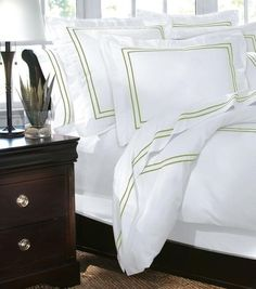 """Home Decorators Collection Embroidered Duvet Cover - Duvets And Coverlets - Bed Linens in """"Watery"""" Decor, Coverlet Bedding, Bedding Accessories, Embroidered Duvet Cover, Luxury Bedding, Monogram Bedding, Designer Bedding Sets, Home Decorators Collection, Home Decor"""