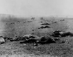 Union and Confederate dead, Gettysburg Battlefield, Pa., July 1863    I always thought this was Antietam    http://www.archives.gov/research/military/civil-war/photos/images/civil-war-099.jpg