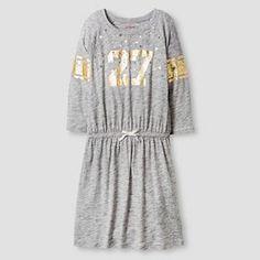 Girls' Dress Cat & Jack™ - Heather Grey