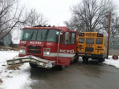 KCFD Fire Engine Crashes With School Bus - Firefighter Spot - Home ...