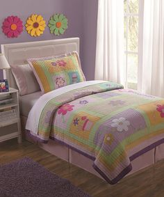 Look what I found on #zulily! Purple Floral Quilt Set by Pem America #zulilyfinds
