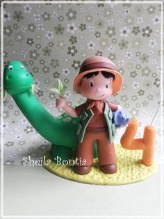 Topo de bolo -Dinossauro