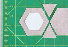 cutting fabric hexagons tutorial - Pretty by Hand - Pretty By Hand