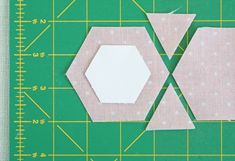 cutting fabric hexagons tutorial - Pretty by Hand - Pretty By Hand