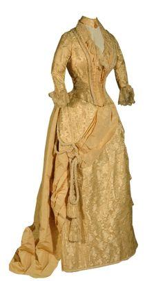 Wedding dress, 1888  From theKansas Historical Society    #victorian #19thcentury