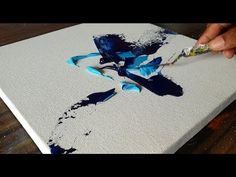 Acrylic Abstract Painting / BLUE / Demonstration / Project 365 days / Da… - All For Herbs And Plants Abstract Painting Easy, Abstract Painting Techniques, Acrylic Painting Tutorials, Acrylic Art, Abstract Canvas, Diy Painting, Knife Painting, Blue Painting, Scrape Painting
