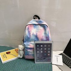 Color Fashion, Uk Fashion, Computer Backpack, School Backpacks, Gradient Color, Multifunctional, School Bags, Brand Names, Fashion Backpack