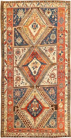 Antique Shahsavan Caucasian Rug...very similar to the one between entry and living room.
