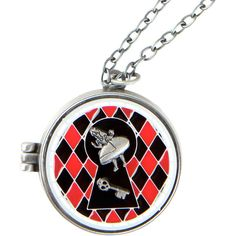 Disney Alice In Wonderland Curious And Curiouser Stained Glass Locket... ($8.40) ❤ liked on Polyvore featuring jewelry, locket pendant, engraved pendants, disney, enamel locket and stained glass pendant