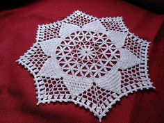 "Another clean out of the finished basket before Christmas... This doily is called ""Breakfast Nook"" and comes from Decorative Crochet, iss..."
