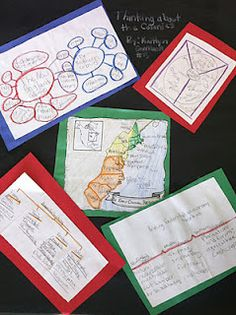 Thinking Maps for the 13 Colonies, (or any subject matter)...moving up on Bloom's Taxonomy. Love these!!!
