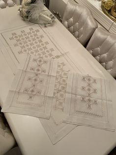 Embroidered Bedding, Bargello, Needlepoint, Hardanger Embroidery, Embroidery