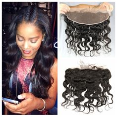 Lace Frontal Closure With Baby Hair 13x4inch Brazilian Virgin Hair Body Wave Lace Frontals Hair Color 2# Dark Brown 130% Density
