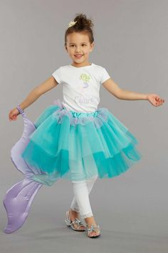 Dress up your little girl in an adorable mermaid tutu - complete with a tail! This costume is perfect for birthday parties and every day play.