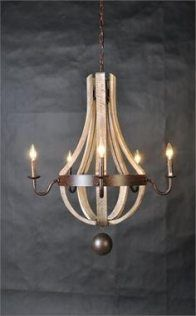 Macon French Wine Barrel Chandelier, Rust Hardware with 5 Arms and Lamps. Farmhouse Lighting, Shabby Chic Chandelier, Wine Barrel Chandelier, Distressed Furniture, Home Lighting, Lights, French Country Furniture, Wine Barrel, Chandelier