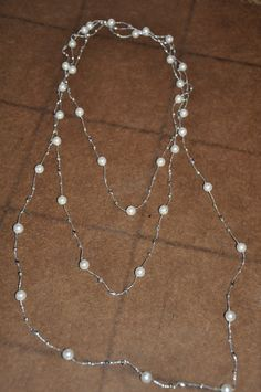 Beautiful Crocheted Beaded Necklace by JewelryByJSB on Etsy, $25.00