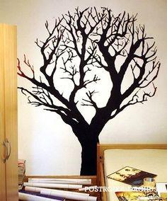 Деревья на стенах (подборка) / Декор стен / ВТОРАЯ УЛИЦА