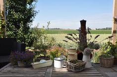 Terras met mooi uitzicht  / Terrace with nice view