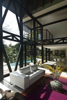 Costa rican home with amazing high ceilings and beams