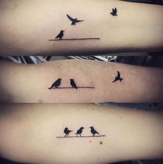 Birdie sister tattoos by Dana Lathrope