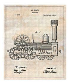 Loving this Locomotive 1842 Art Print on #zulily! #zulilyfinds