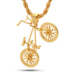 14K Gold BMX Bicycle Necklace http://www.uksportsoutdoors.com/product/blank-icon-2016-bmx-bike-20in-wheel-20-85in-top-tube-tan/