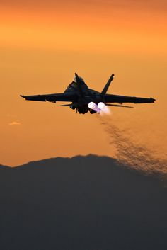 https://flic.kr/p/21KK1FC | A WORLD LIT ONLY BY FIRE | Super Hornet from VFA-106 departing NAF El Centro for a dusk training mission.