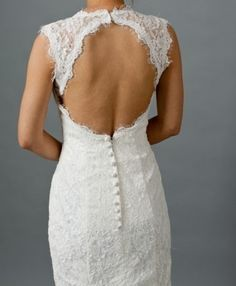Old fashion lace button back :)