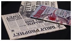 Harry Potter Graphic Designer Makes Wizarding World Believeable: A collection of reading materials for the Harry Potter film sets designed by Eduardo Lima & Miraphora Mina, of MinaLima.