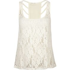 FULL TILT Lace Front Womens Tank ($15) ❤ liked on Polyvore