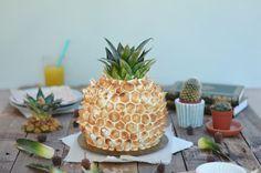Vous l'aurez compris, c'est un gâteau-ananas, à l'ananas …! C'est le genre de pâtisserie qui sort un peu de ce que je fais d'habitude, plus dans la tradition amé…