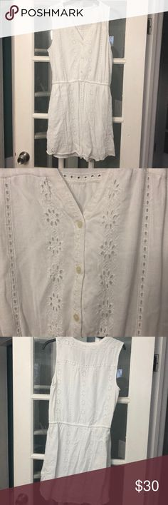 Gap cotton embroidered dress. Gap cotton white embroidered dress.  I'm 5'10 and it hits above my knee. GAP Dresses Mini