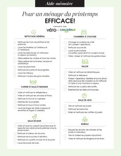 Checklist for efficient spring cleaning! Cleaning Checklist, House Cleaning Tips, Spring Cleaning, Cleaning Hacks, Planner Organisation, Grand Menage, Flylady, Small Room Bedroom, Positive Attitude