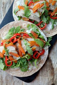 LINDASTUHAUG - det skal vere en opptur med sunn mat! Tacos, Mexican, Ethnic Recipes, Dessert, Food, Red Peppers, Dessert Food, Desserts, Meals