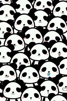 Find images and videos about cute, black and white and panda on We Heart It - the app to get lost in what you love. Cute Panda Wallpaper, Cute Wallpaper Backgrounds, Wallpaper Iphone Cute, Panda Wallpapers, Cute Wallpapers, Cartoon Panda, Cute Animal Drawings Kawaii, Panda Party, Whatsapp Wallpaper