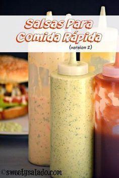 Los colombianos adoran la comida rápida o chatarra y una de las razones es porque les encanta ponerle to... Colombian Food, Colombian Hot Dog, Tasty, Yummy Food, Homemade Sauce, Latin Food, Mexican Food Recipes, Food Processor Recipes, Food And Drink