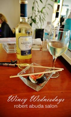 Every Wednesday we offer Free wine & beer along with some delicious snacks to complement your salon experience. This week was Sushi. Hope everyone enjoyed! We call it Winey Wednesday and are located on Paseo Montejo, Merida Yucatan Mexico. #merida #salondebelleza #salondebellezamerida #sushi #yucatan #robertabudasalon #wednesday #humpday #wineywednesday