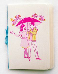 LOVE this invitation booklet by Emily Ryan Lerner. That illustration is ADORABLE.