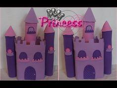 PAP:Castelo para decoração de festa, feito de E.V.A e papelão