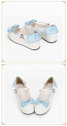 新款原创定制洛丽塔Lolita鞋蝴蝶结洋装鞋 厚底松糕底海军鞋 8487