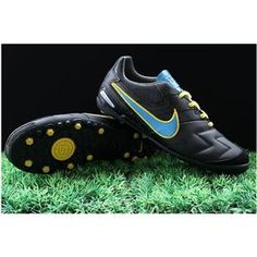 http://www.asneakers4u.com/ 2011 New Style Nike Soccer 5 Zoom T 5 CT Black Blue Cleatsout of stock