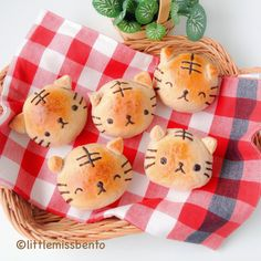 Cute Tiger Buns kawaii cute food