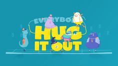 More at http://alepixel.tv & https://www.behance.net/gallery/21854313/Hug-it-Out  Our good friends at Demo Duck (https://vimeo.com/demoduck) asked us to make a video about the health benefits of hugging. So we proposed writing a catchy song and telling the story through a set of fun characters: a depressed clown, a stressed out worker, and a very distracted teen.  We all collaborated on the lyrics, lead by Justin from Diamond Youth who did all the music and singing. Then for character ...