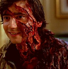 Jack Goodman played by Griffin Dunne in An American Werewolf in London. Makeup by Rick Baker