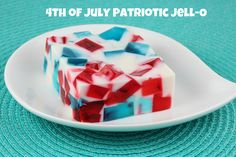 4th of July Patriotic Broken Glass Jell-O by Food Librarian