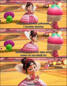 Vanellope Von Schweetz: my favorite Disney Princess Disney Pixar, Walt Disney, Disney Fun, Disney Animation, Disney And Dreamworks, Disney Magic, Disney Stuff, Funny Disney Memes, Disney Jokes