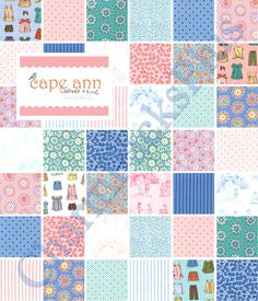 CAPE ANN Moda Charm Pack - 5-inch Quilt Fabric Squares 11180PP. $8.00, via Etsy.