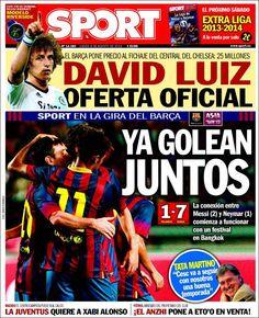 Los Titulares y Portadas de Noticias Destacadas Españolas del 8 de Agosto de 2013 del Diario Sport ¿Que le pareció esta Portada de este Diario Español?