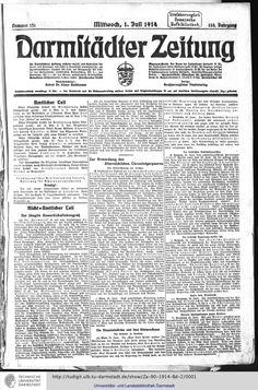 Zeitungen 1914