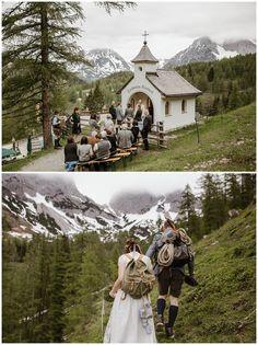 Heiraten in den Bergen - Dachstein Kircherl Kapelle Wedding Destination, Wedding Goals, Wedding Locations, Wedding Venues, Austria, Perfect Wedding, Dream Wedding, Vintage Ski, Seattle Wedding